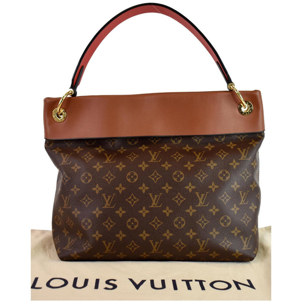 front side lv Tuileries Monogram Canvas Hobo Bag