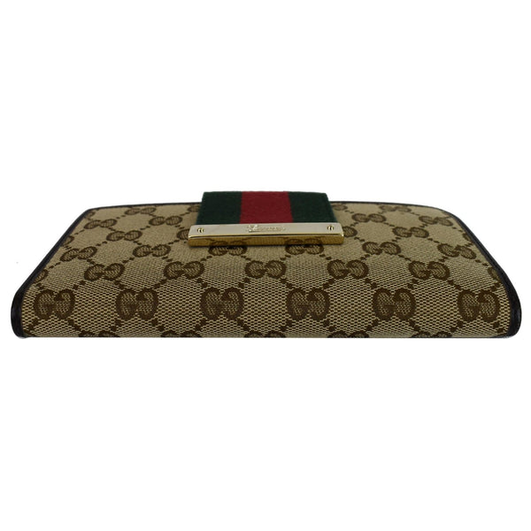 Gucci Monogram Ladies Web GG Canvas Continental Wallet 100% authentic