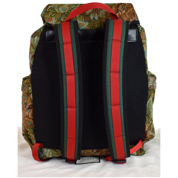 Gucci Floral Brocade Leather Backpack Bag belts