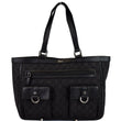 Gucci Abbey Pocket Medium GG Denim Tote Bag Black