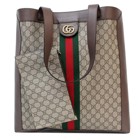 GUCCI Ophidia Soft GG Supreme Large Tote Bag Beige 519335