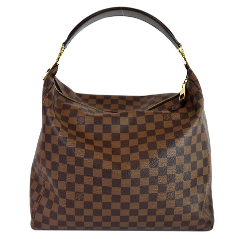LOUIS VUITTON Portobello GM Damier Ebene Shoulder Bag Brown