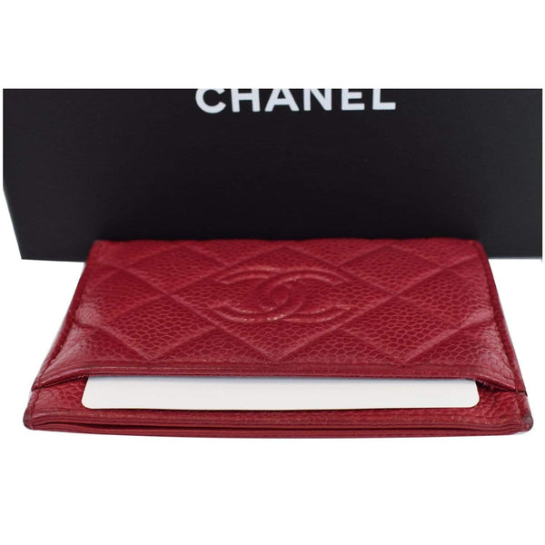 Chanel CC Card Holder Caviar Leather Case Card pocket