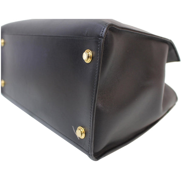 Brass studs Lv City Steamer GM Noir Black Leather Bag