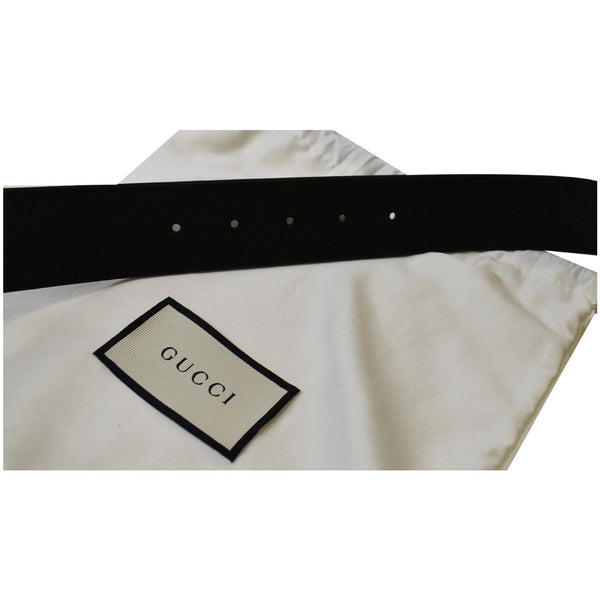 Gucci Double G Buckle Leather Belt Men Size 34 - gucci belt