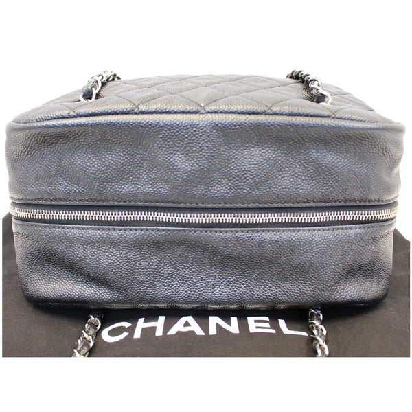 CHANEL Camera Case Quilted Caviar Leather Medium Flap Shoulder Bag-US