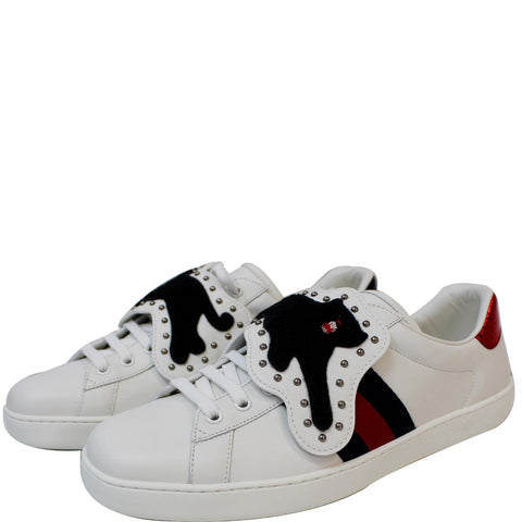GUCCI Ace Low-Top With Removable Patches Sneaker White 477107 US 9 - 20% OFF