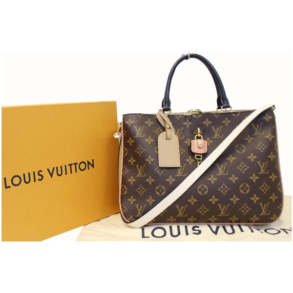 Full View lv Millefeuille Monogram Canvas Shoulder Bag