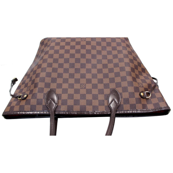 Louis Vuitton Neverfull MM Damier Ebene Bag Brown bottom view