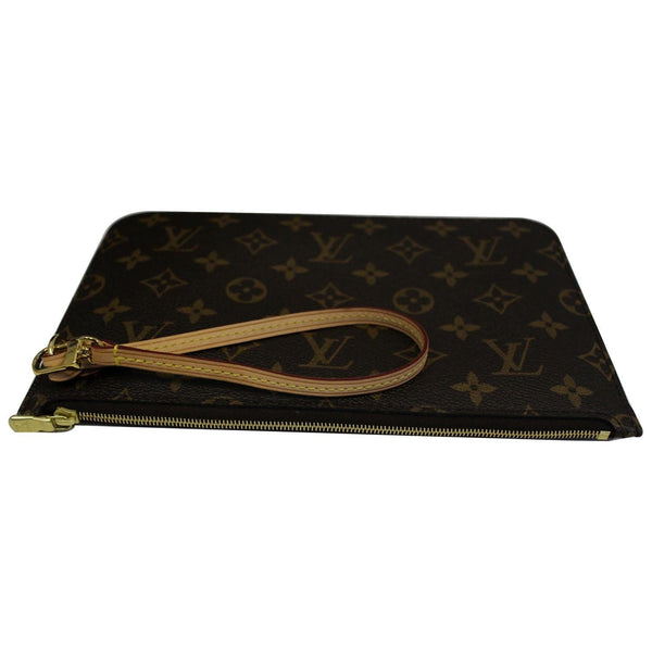 Louis Vuitton Pochette Wristlet Neverfull MM Pouch - leather