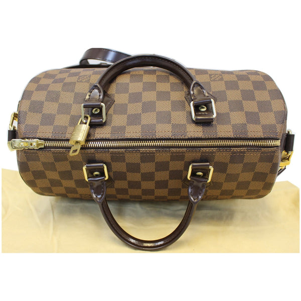 Top View lv Speedy 30 Damier Ebene Bandouliere Bag