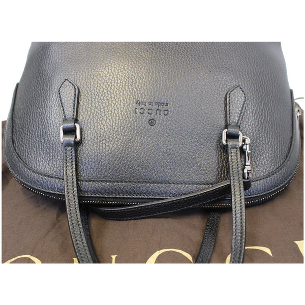 GUCCI Dome Leather Crossbody Bag Black 420023