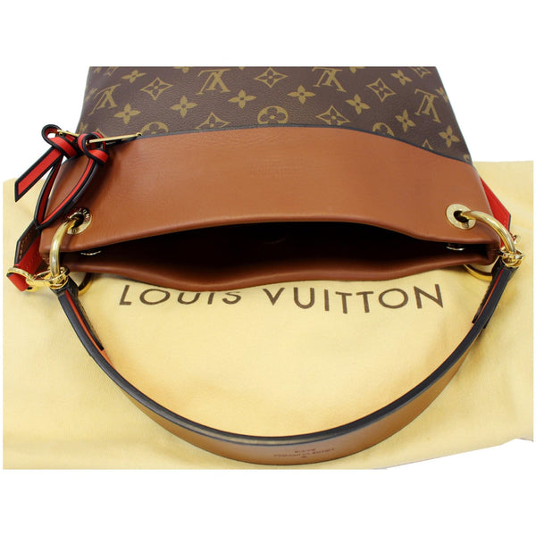 LOUIS VUITTON Tuileries Besace Monogram Canvas Shoulder Bag Caramel-US