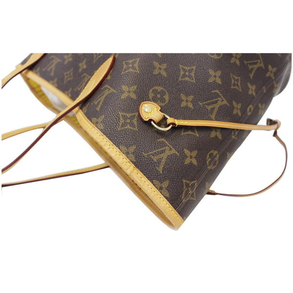 LOUIS VUITTON Neverfull MM Monogram Canvas Tote Bag Brown/Yellow