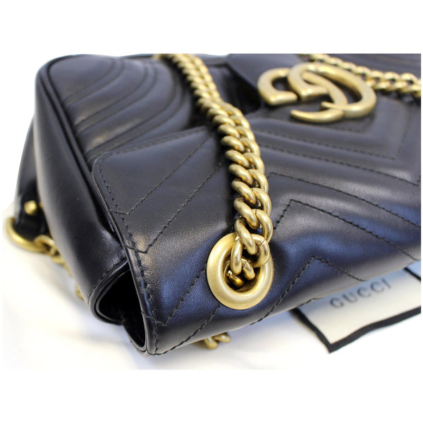 Gucci GG Marmont Matelasse Leather Crossbody Bag - left view