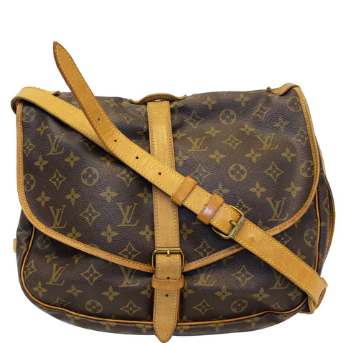 9cd84c62acd3 LOUIS VUITTON Saumur 35 Monogram Canvas Shoulder Bag