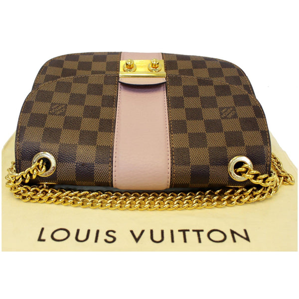 LOUIS VUITTON Wight Damier Ebene Shoulder Crossbody Bag Magnolia