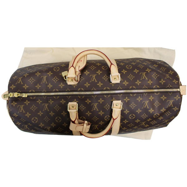 Louis Vuitton Keepall 55 Monogram Canvas Bostan Bag front view