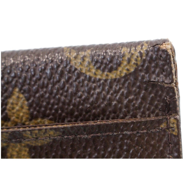 LOUIS VUITTON Pocket Organizer Monogram Canvas Wallet Brown