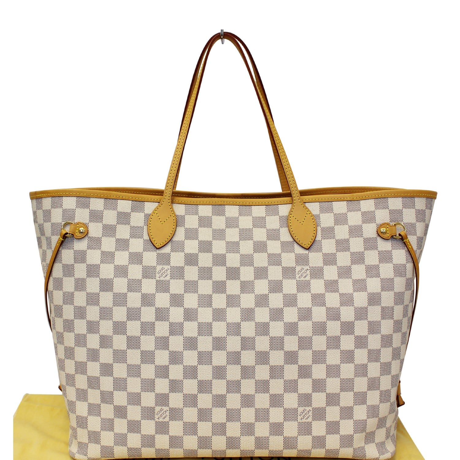 cb72476f7f3e LOUIS VUITTON Neverfull GM Damier Azur Tote Shoulder Bag Rose Ballerin-US