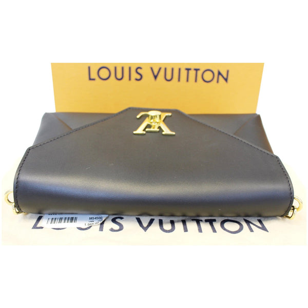 LOUIS VUITTON Love Note Calfskin Leather Shoulder Bag Black-US