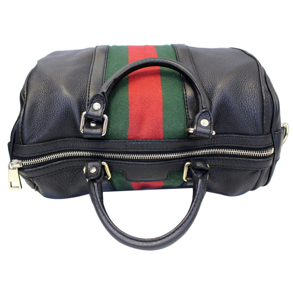 Gucci Web Medium Leather Bag | Bottom side view