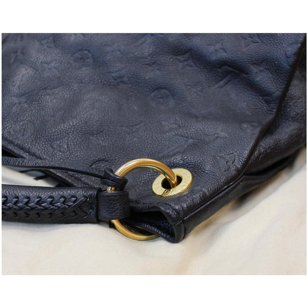 LOUIS VUITTON Artsy MM Empreinte Leather Shoulder Bag Black