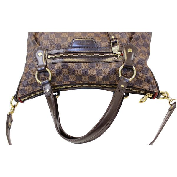 Louis Vuitton Damier Ebene Evora MM Tote Shoulder Bag - corner