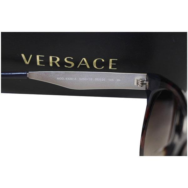 Brown Versace Sunglasses With Brown Frame-Arm View