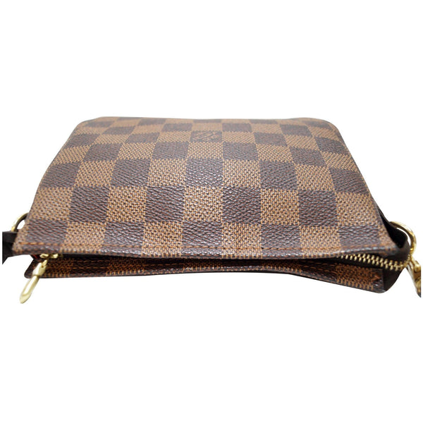 Louis Vuitton Damier Ebene Truth Makeup Pouch Bag - leather