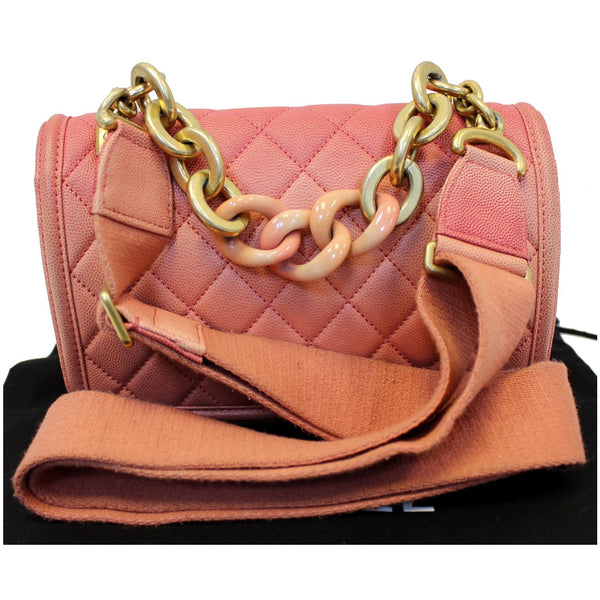 Chanel Sunset On The Sea Caviar Leather Small Flap with chain