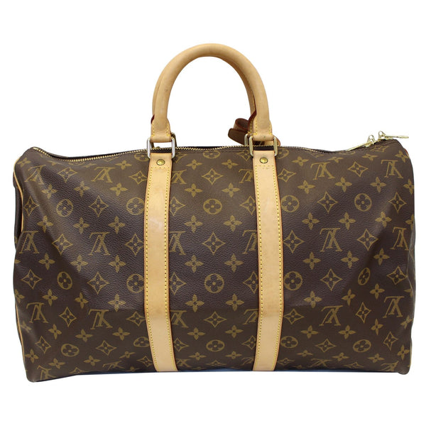 Louis Vuitton Keepall 45 Monogram Duffle - Lv Travel Bag - lv strap