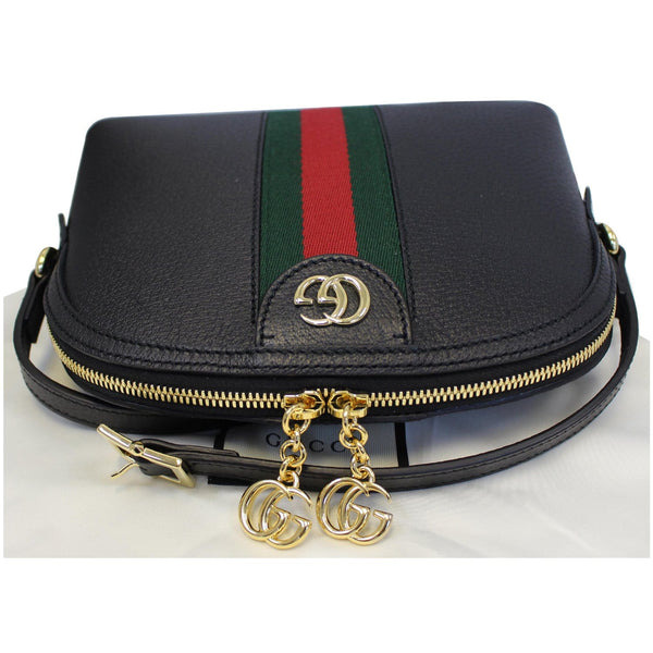 Gucci Ophidia Small Web GG Leather Shoulder Bag Black