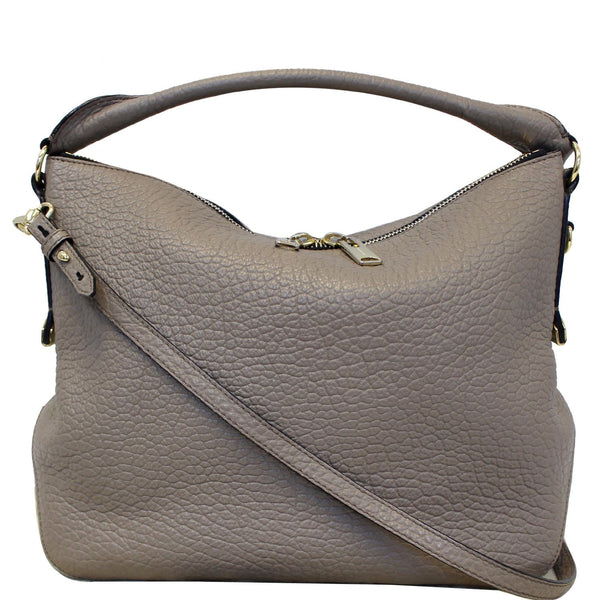Burberry Ledbury Leather Grain Hobo Shoulder Bag
