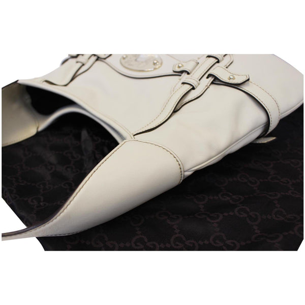 Gucci 85th Anniversary Horsebit Leather Hobo Bag White for sale