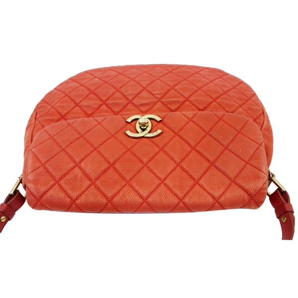 Chanel Flap Red Soft Caviar Shoulder Crossbody Bag - leather
