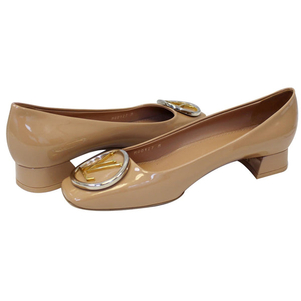 Louis Vuitton Madeleine Ballerina Patent Leather pumps Blush
