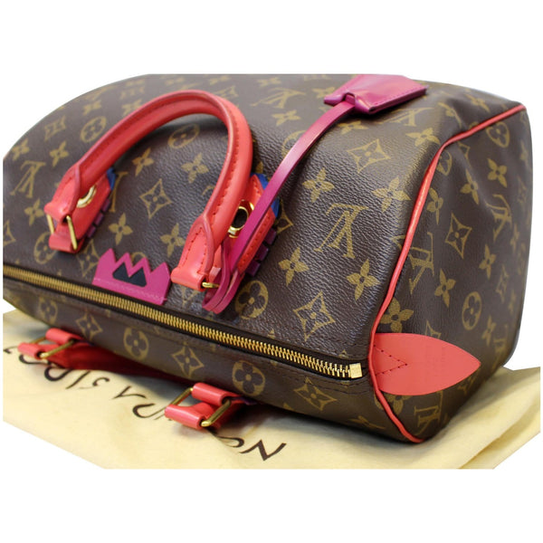 Louis Vuitton Totem Speedy 30 Satchel- strap view