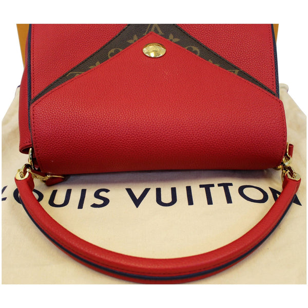 LOUIS VUITTON Double V Grained Leather Monogram Shoulder Bag Rubis-US