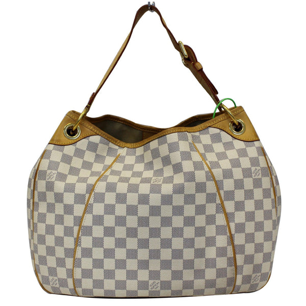 Louis Vuitton Galliera PM Damier Azur white- front view