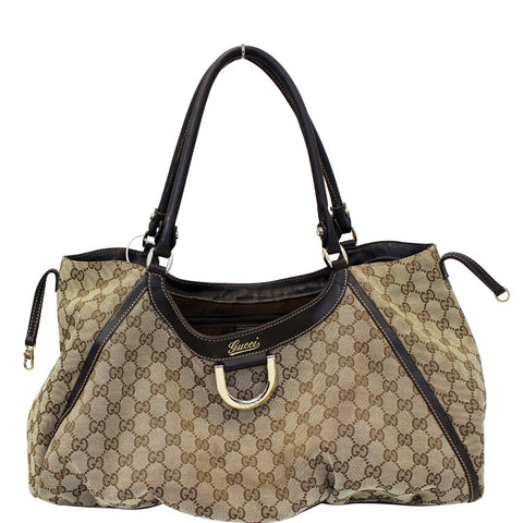 GUCCI Abbey D Ring GG Canvas Large Hobo Bag 189835