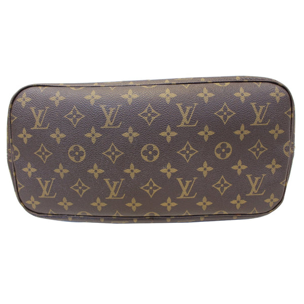 Louis Vuitton Neverfull MM - Lv Monogram Canvas Tote Bag - back view