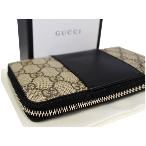 Gucci Wallet GG Supreme Monogram Zip Around - zip