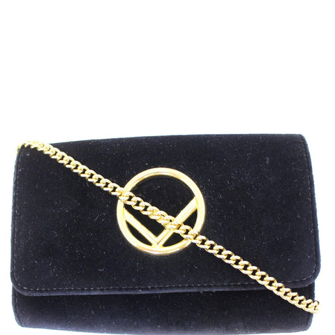 FENDI Velvet Wallet On Chain Shoulder Crossbody Bag - Daily Deal