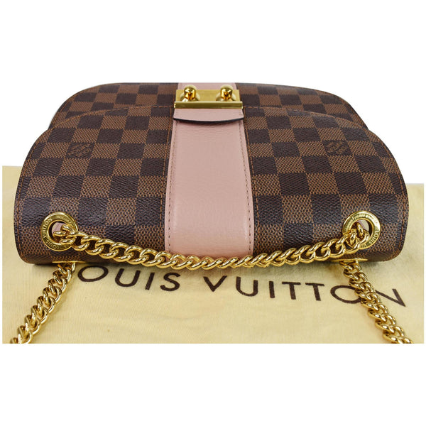 Louis Vuitton Wight Damier Ebene Crossbody Bag Magnolia - top side view
