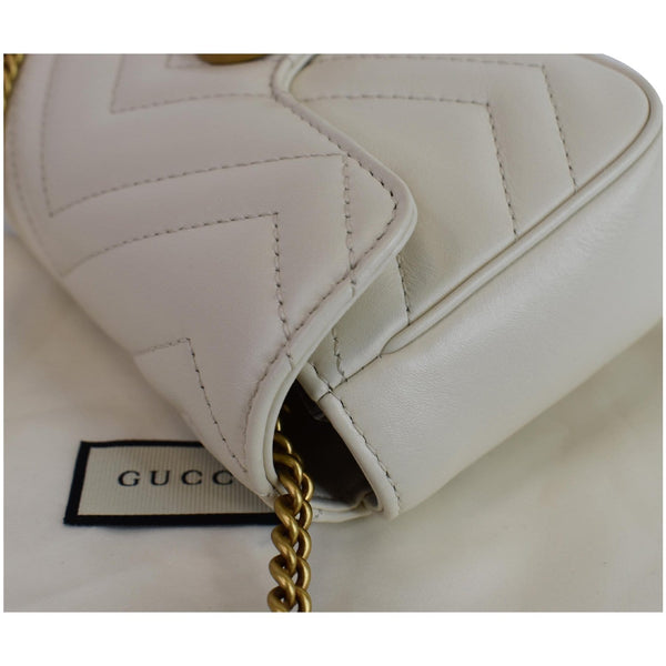 Gucci GG Marmont Super Mini Matelasse Leather Bag - focused preview