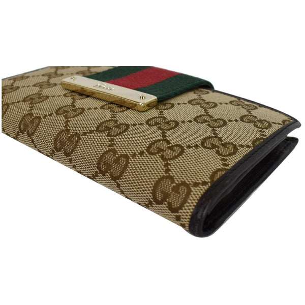 Gucci Monogram Ladies Web GG Canvas Continental Wallet - gucci women pouch