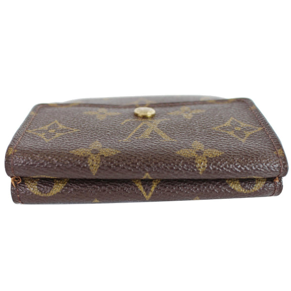 Preowned Lv Monogram Canvas Elise Bifold Wallet Brown