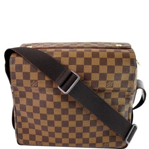 LOUIS VUITTON Naviglio Damier Ebene Messenger Bag Brown