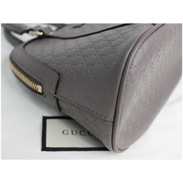 GUCCI Mini Dome Micro Guccissima Leather Shoulder Bag Grey 449654